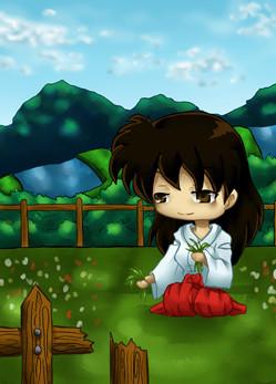#008 ~ Chibi Kagome aus inuyasha ~ Painttool Sai ~ vergeben