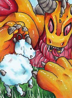 N022 ~ Von Schafe und Drachen ~ Copic Marker ~ reserviert