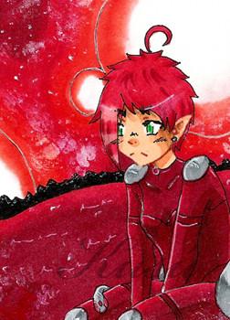 #094 ~ roter Mond ~ Copic Marker ~ nicht frei