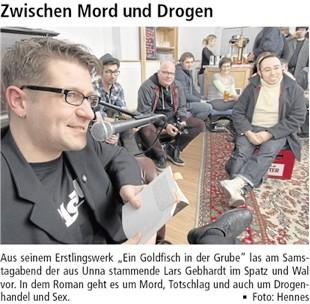 Lars Gebhardt Lesung Unna, 22.02.2014