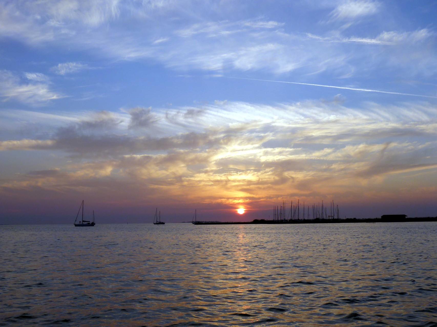 Sonnenuntergang Hafen Birkholm