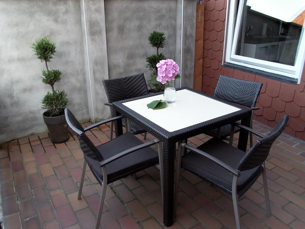 Ferienwohnung in Hameln Balkon an der Küche