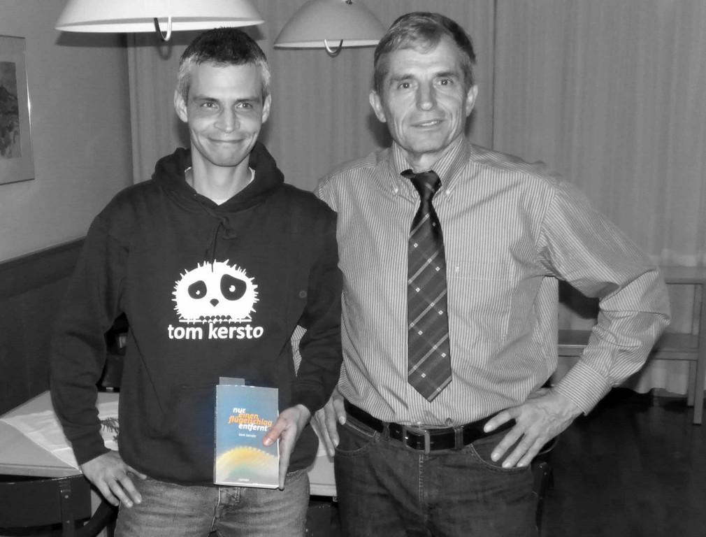 Tom Kersto und sein ehemaliger KV Prof. Alex Stückler