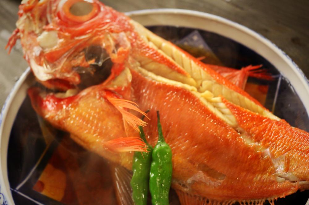 ↑地金目鯛姿煮の写真