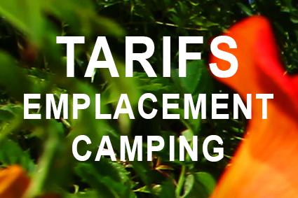 TARIFS EMPLACEMENT