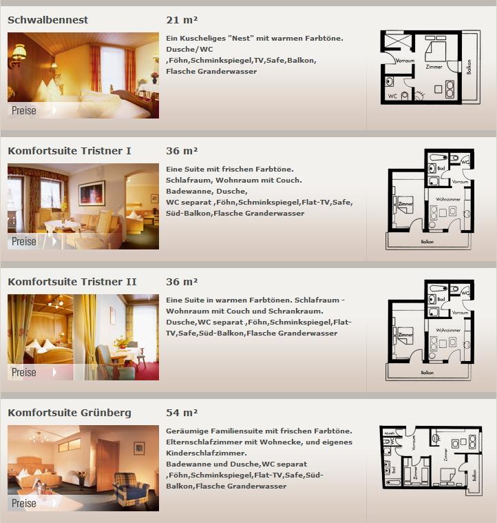 Preise und Zimmer Hotel Blizz - Urlaub im Hotel Garni im Zillertal - Finkenberg