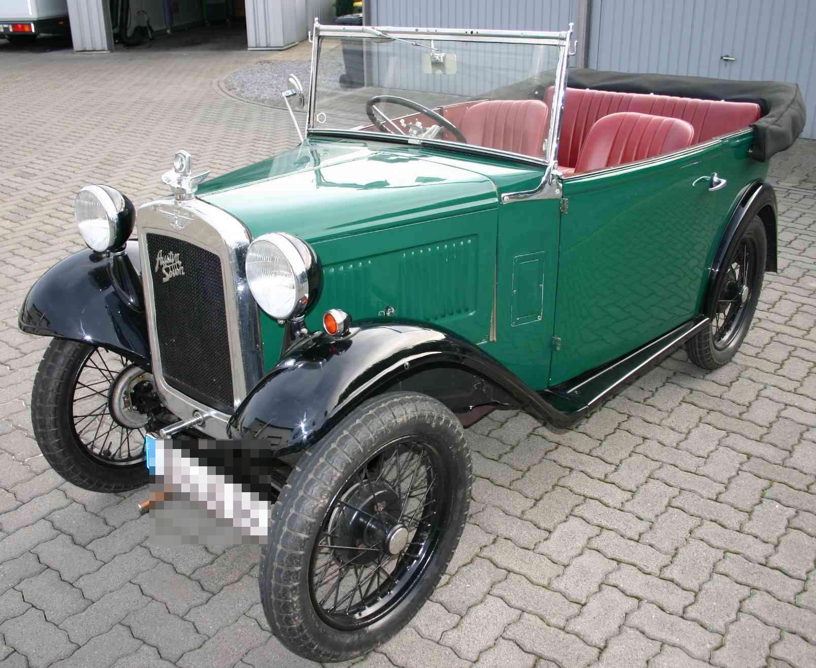 Austin Seven aus Baujahr 1934 mit einem 4-Zyl. 4-Takt-Motor und 18 PS