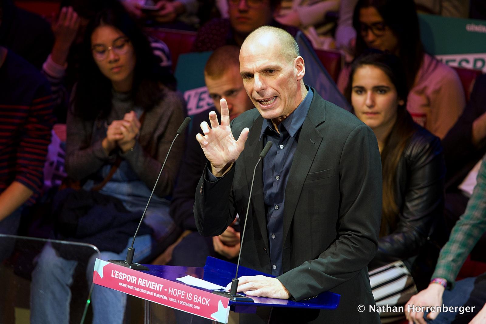 Yanis Varoufakis, Paris, Décembre 2018