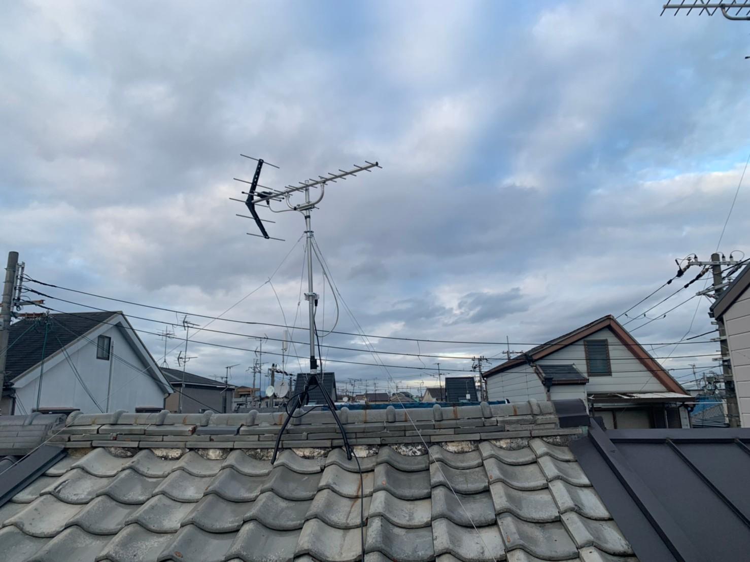 寝屋川市  地デジ八木式アンテナ取付設置工事