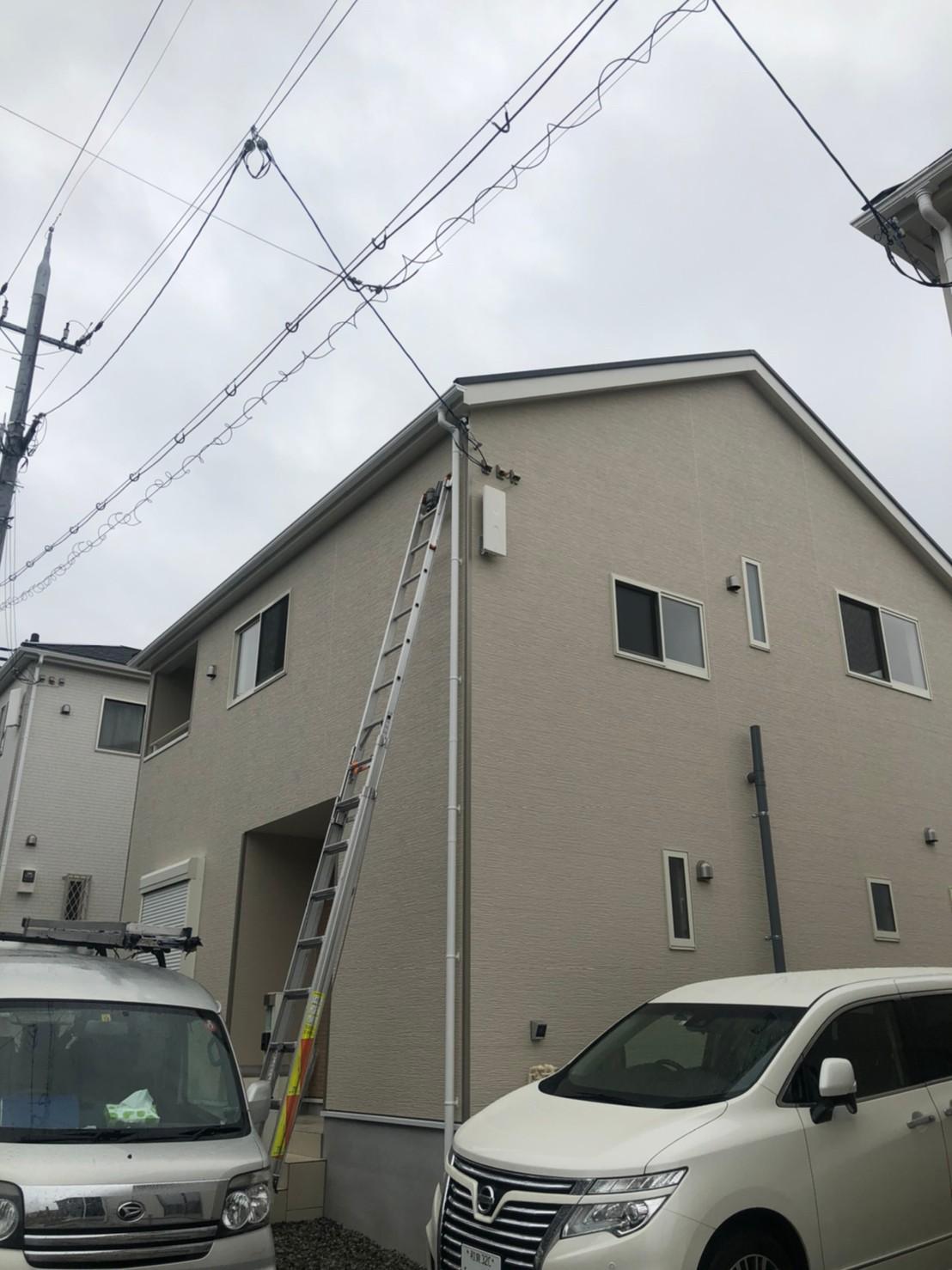 大阪府河内長野市 新築 地デジデザインアンテナ取付設置工事