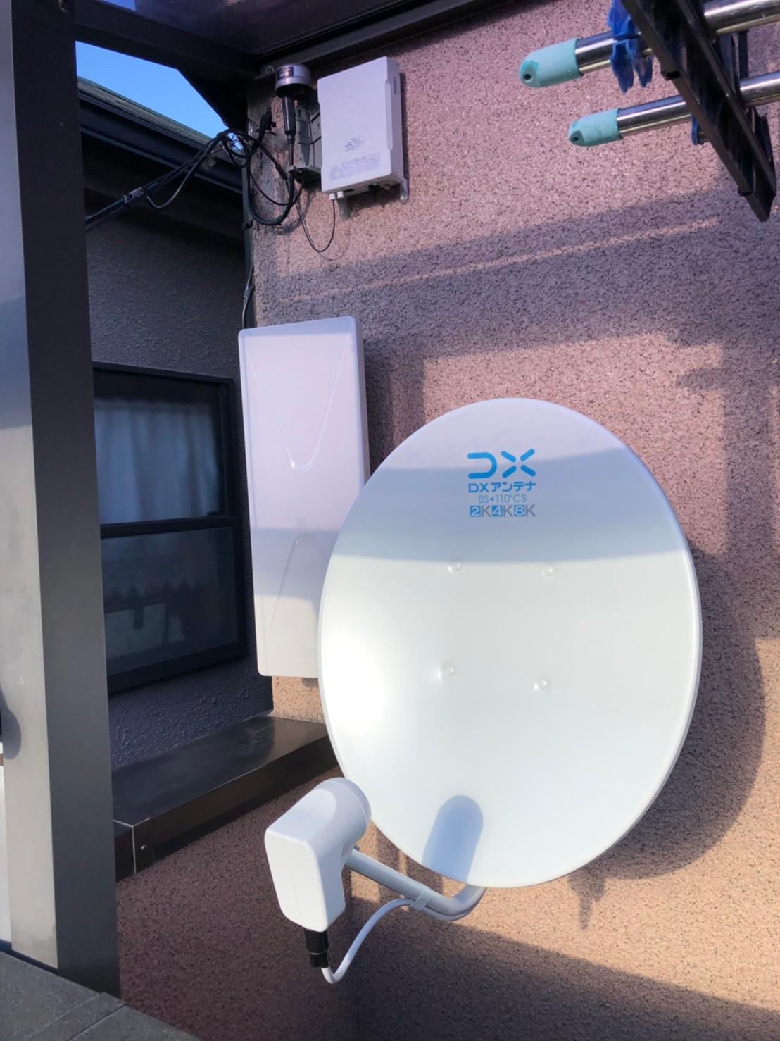 大阪府守口市 地デジデザイン/BSCS4K8Kアンテナ取付設置工事