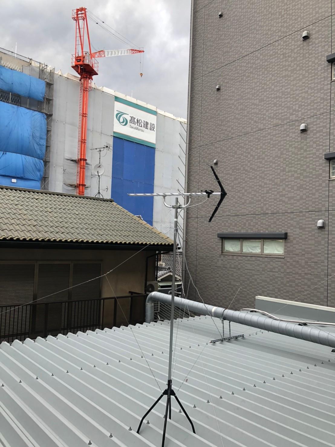 奈良県北葛城郡 地デジヤギ式アンテナダイレクト取付設置工事