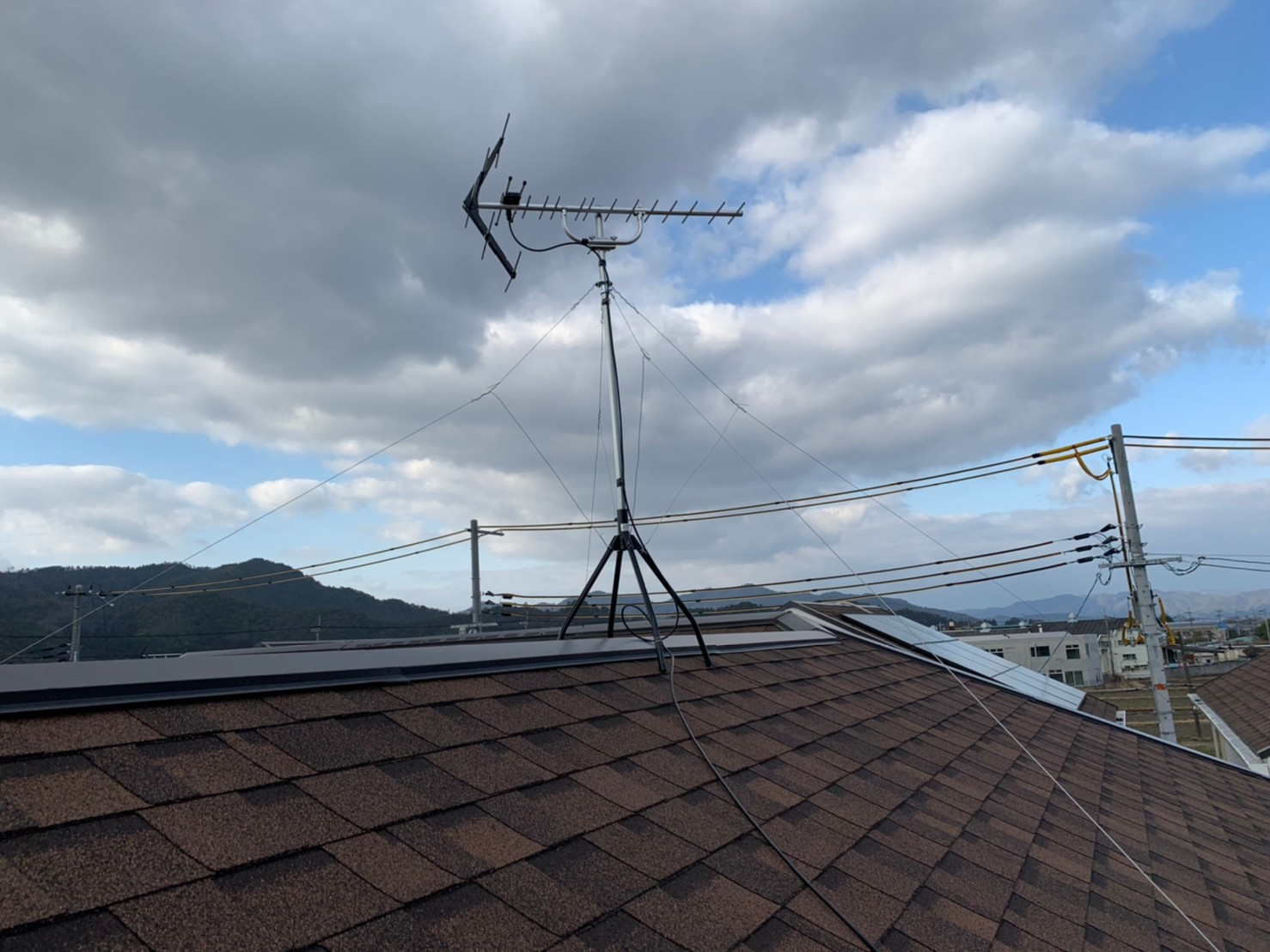 京都府亀岡市 地デジヤギ式アンテナ取付設置工事