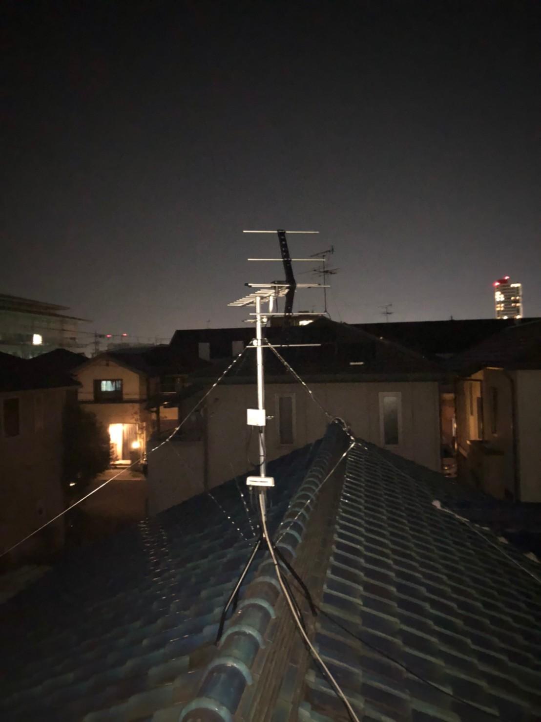 高石市 地デジヤギ式アンテナ取付設置工事
