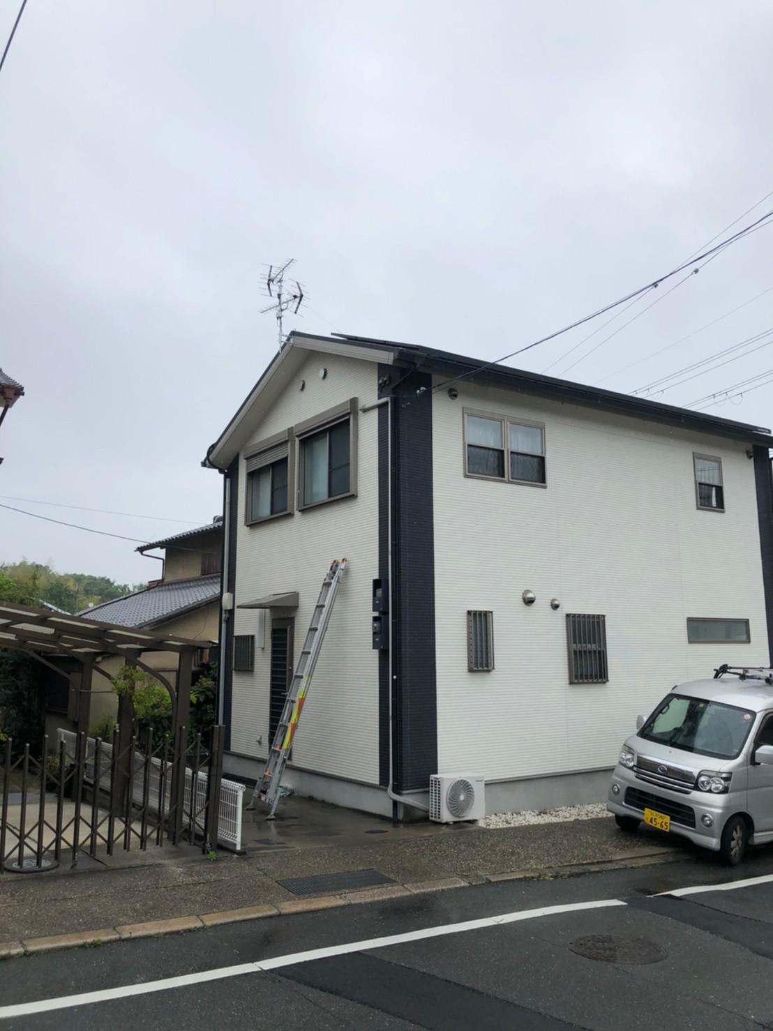京都府京田辺市 地デジヤギ式アンテナ取付設置工事