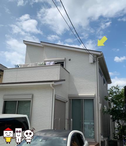 CATV切り替え 地デジデザインアンテナ工事 (大阪府茨木市)