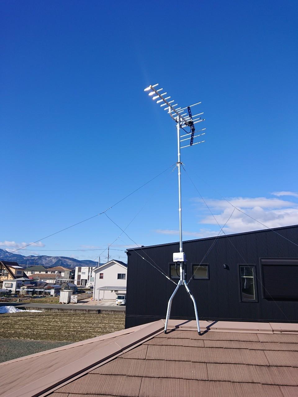 滋賀県栗東市 地デジ八木式アンテナ取付設置工事