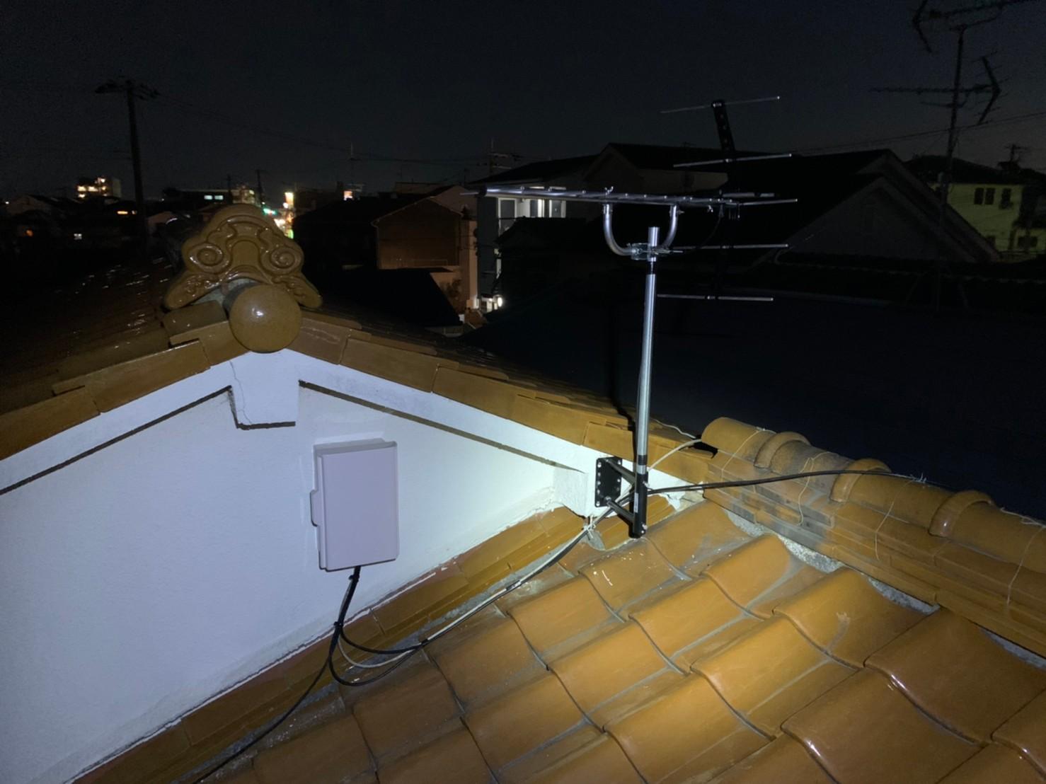 堺市  地デジ八木式アンテナ取付設置工事