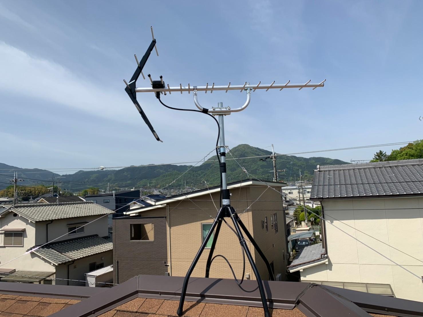 奈良県香芝市 地デジヤギ式アンテナ取付設置工事