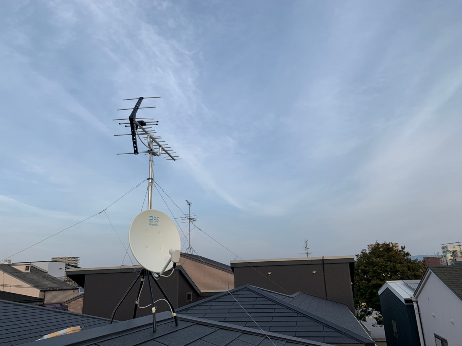 旭区  地デジ八木式アンテナBSCS4k8k取付設置工事