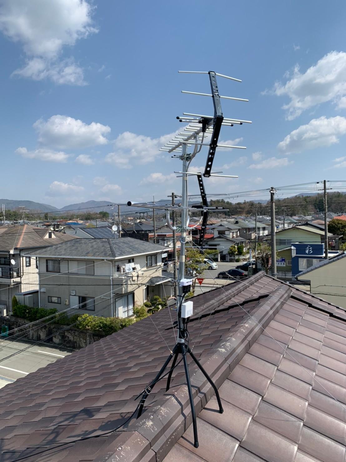 川西市 地デジヤギ式アンテナ取付設置工事