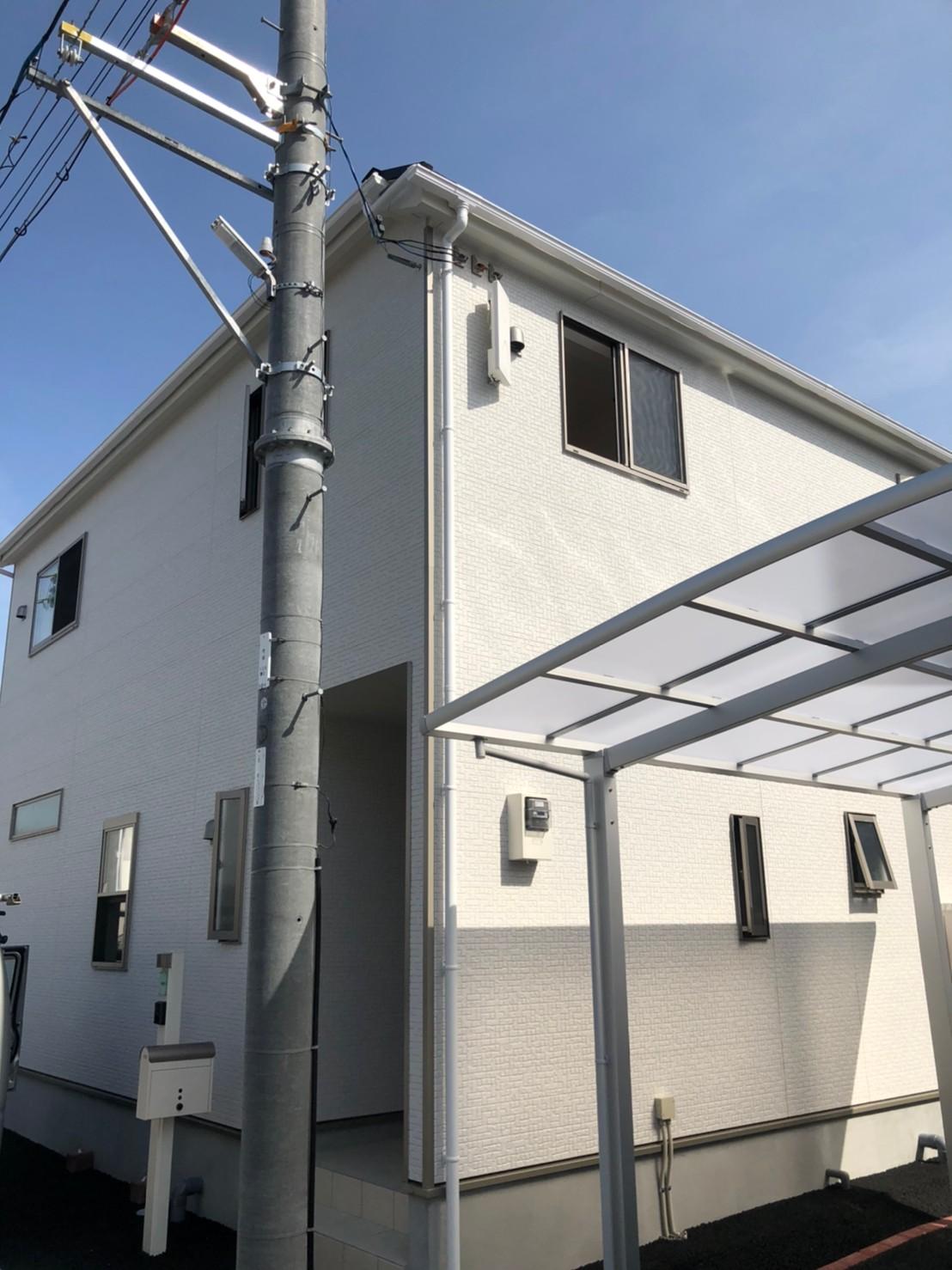 奈良県木津川市 地デジデザインアンテナ取付設置工事