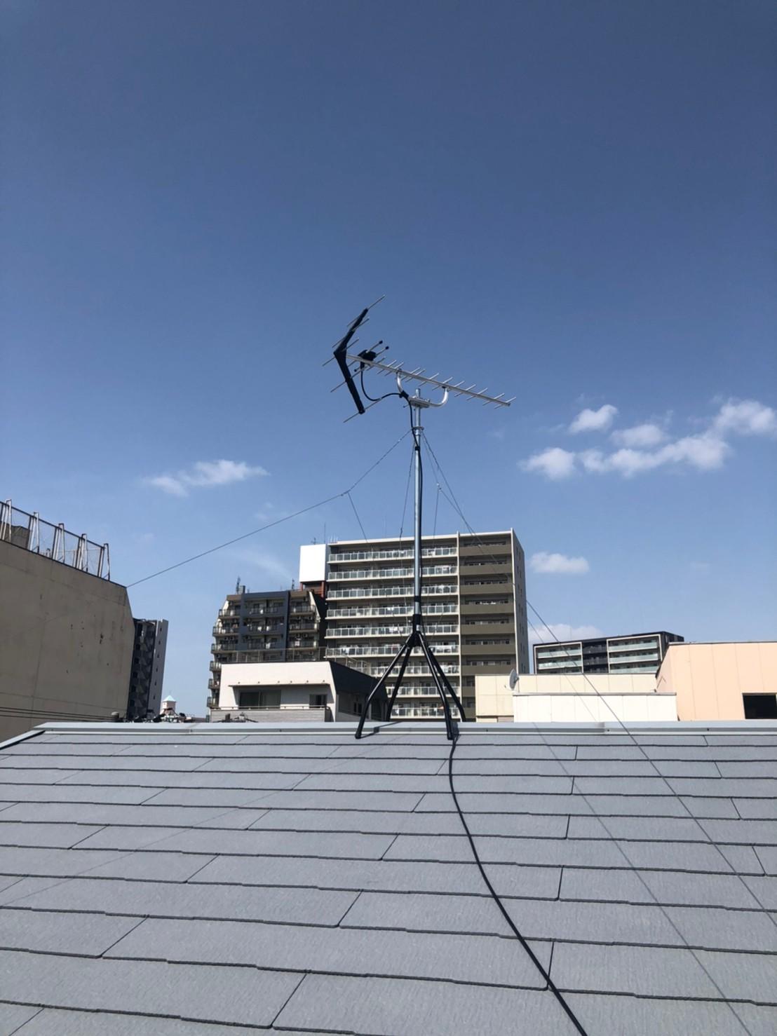 大阪市西区 地デジデザインアンテナ取付設置工事