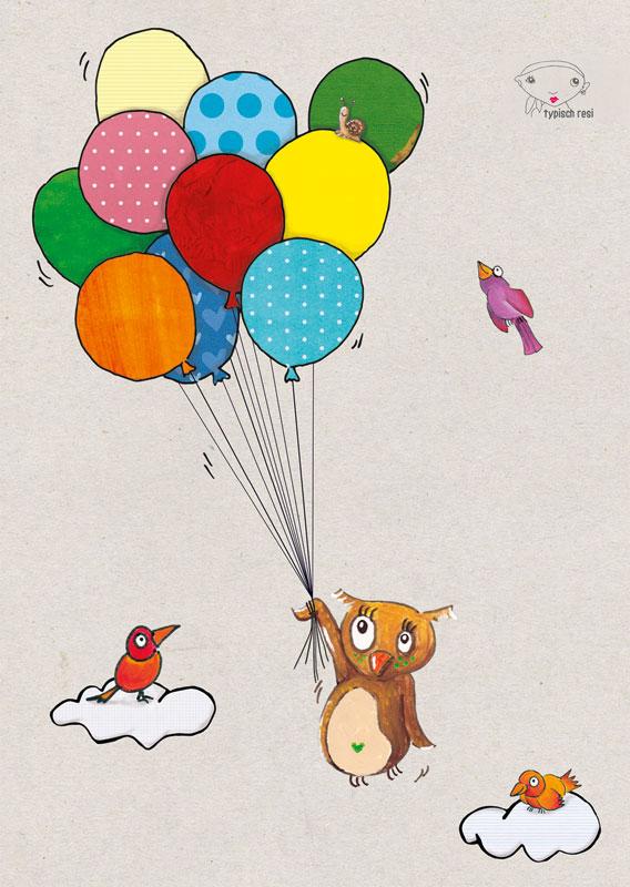 Luftballon | Postkarte