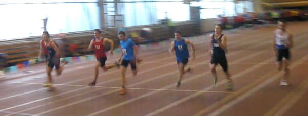 Witold Mrowiec w biegu na 60m