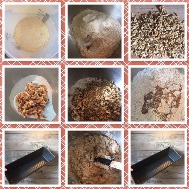 einfaches Walnuss-Brot mit Vollkornmehl