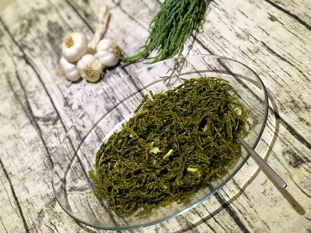 original tuerkischer Algensalat l Meeresspargel-Salat l Friesenkraut-Salat