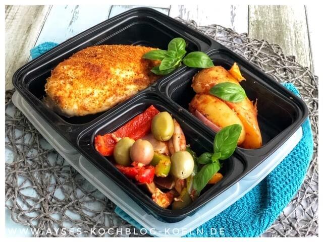 Meal Prep Wochenplan abnehmen l Meal Prep Ideen mit Haehnchen