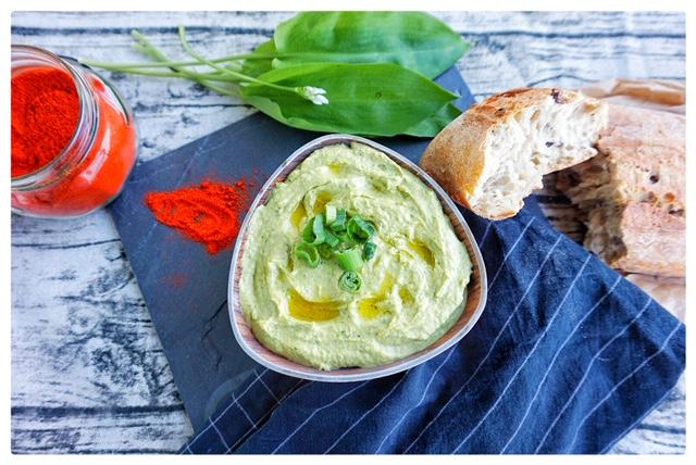 Baerlauch-Hummus Rezept mit Avocado l einfacher Hummus-Dip