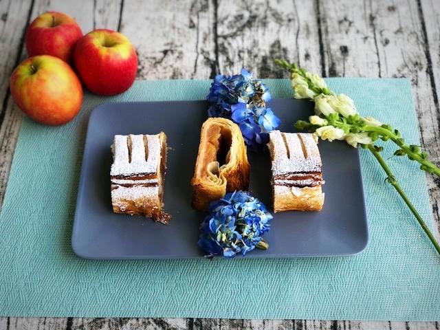leichter Apfelstrudel aus Blaetterteig l Apfelkuechlein aus 7 Zutaten