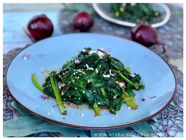 Leckere Spinatpfanne a la Jamie Oliver l bestes Rezept fuer Spinat l einfach Spinat zubereiten