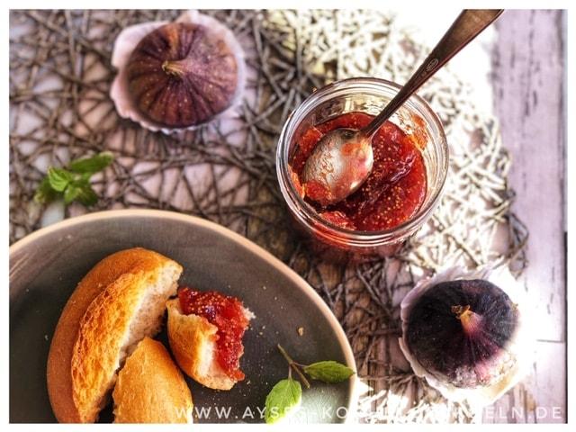 Tuerkische Feigenmarmelade mit Vanille einfaches Rezept l Orientalische Marmelade
