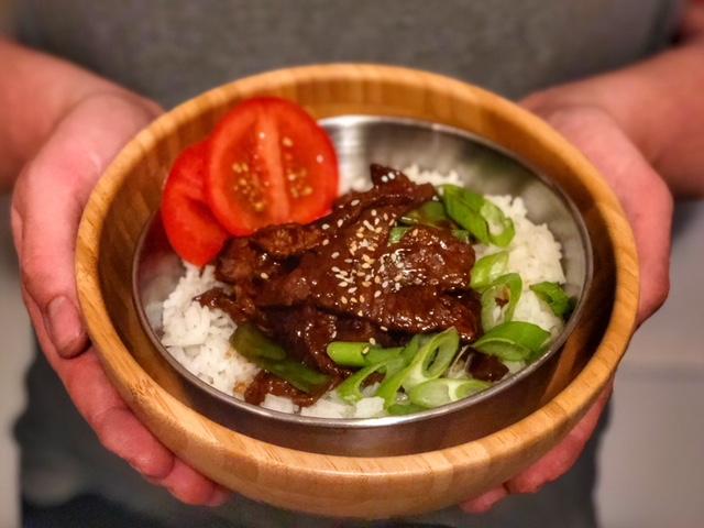 Teriyaki – Bowl mit Rinderfleisch und Reis l Grundrezept Teriyaki Sosse