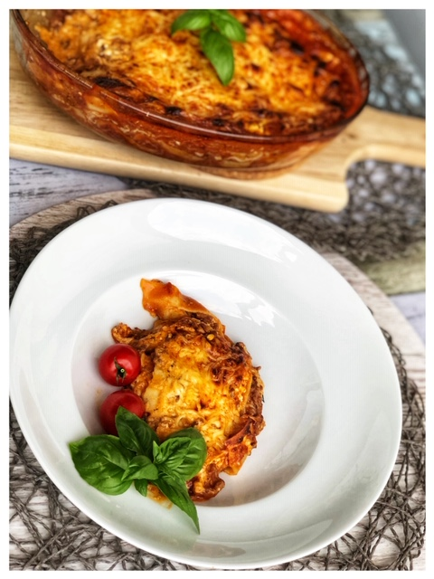 Tuerkische Lasagne aus Yufka-Blaettern l leichte Lasagne ohne Bechamel tuerkischer Art