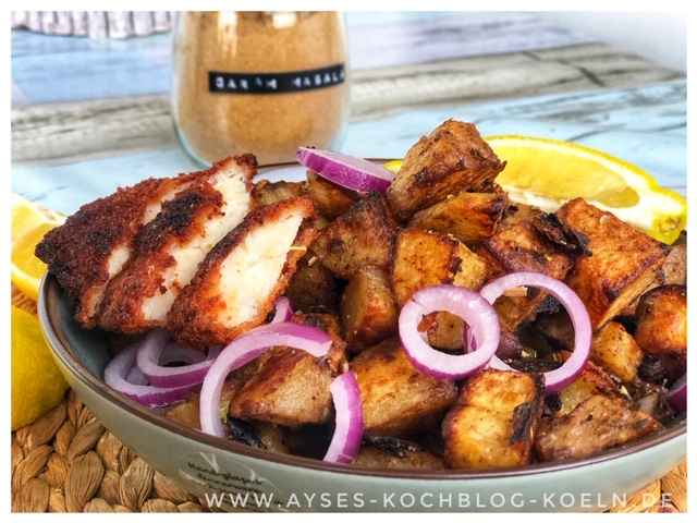 Indische Marinade mit Joghurt l indische Ofenkartoffeln mit Garam Masala