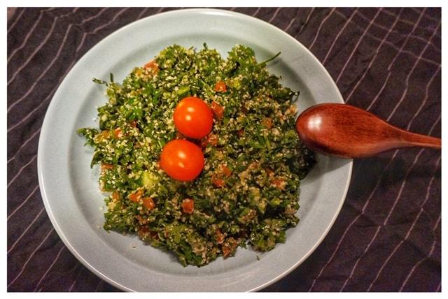 Tabouleh Salat syrisches Rezept l Tabouleh Rezept mit Couscous l Couscous Salat