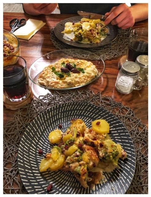 Tuerkischer Kartoffelauflauf mit Sucuk und Brokkoli