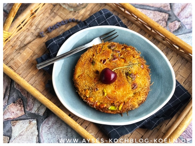 Nutella Kuenefe selber machen l einfache Kuenefe mit Pistazien aus der Pfanne l Kuenefe Koeln