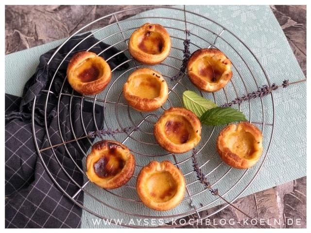Portugiesische Vanille Toertchen aus Blaetterteig l Pastel de Nata