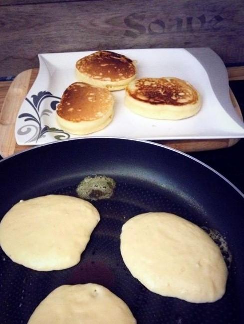 Rezept dicke saftige  Pancakes