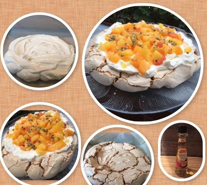 einfache Pavlova Torte a la Jamie Oliver - das super low carb Dessert ohne Mehl
