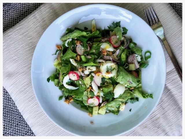 tuerkischer Eiersalat lowcarb l Protein Salat