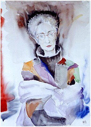 Claudia Erdheim portraitiert von Nina Werzhbinskaja-Rabinowich