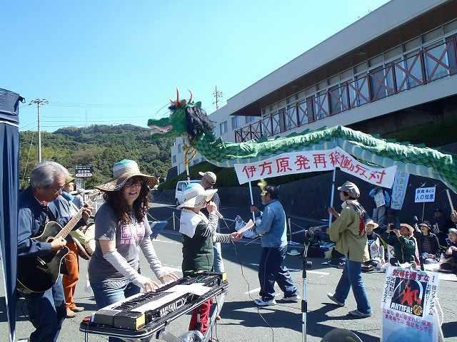 14年の伊方集会にて、香川からは竜も参加。