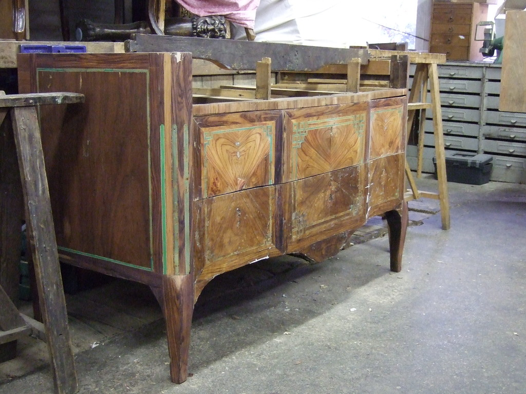 Commode transition avant restauration