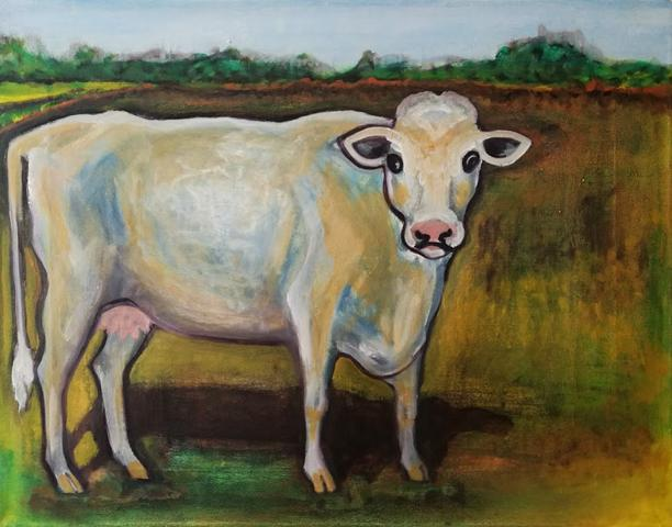 Sacred Cow, oil on canvas, 35 x 45 cm, 2017